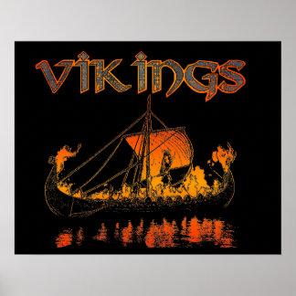 Viking begravnings- affisch poster