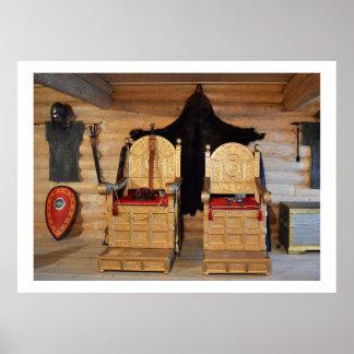 Viking biskopsstolrum posters