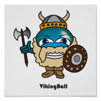 Viking bollaffisch posters