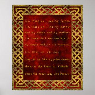 Viking bönaffisch posters