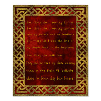 Viking bönaffisch poster