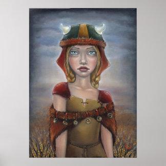 Viking flicka affischer