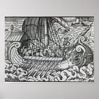 Viking frakt print