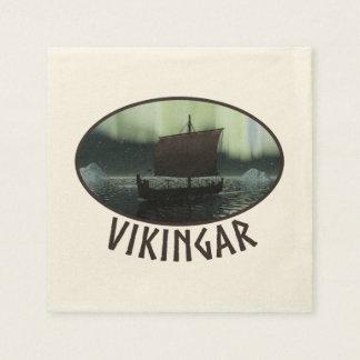 Viking frakt och nordligt ljus pappersservett