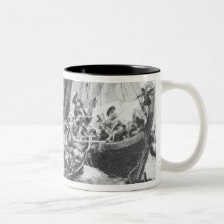 Viking frakter Två-Tonad mugg