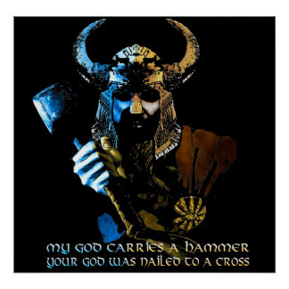 Viking gudaffisch print