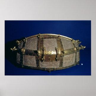 Viking kista för guld posters