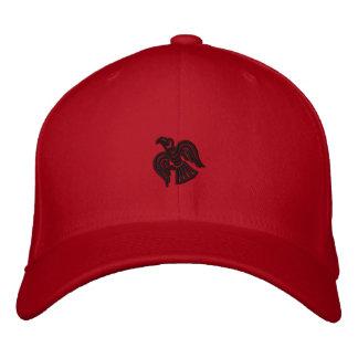 Viking korpsvart broderad hatt