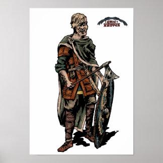 Viking krigare print