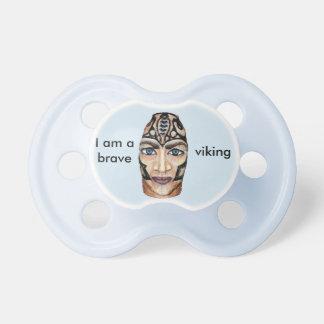 Viking krigare - realismmålning napp