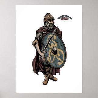 Viking krigarekung av danskarna print