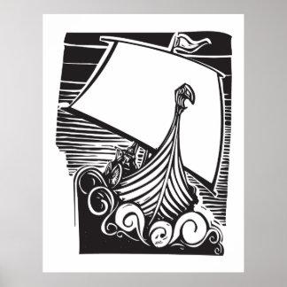 Viking Longship segling Print