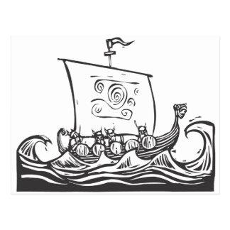 Viking LongShip Vykort