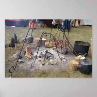 Viking marknadsför Campfirematlagning Poster