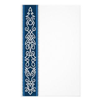 Viking mönsterblått brevpapper