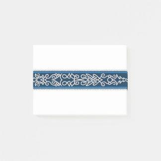 Viking mönsterblått post-it lappar
