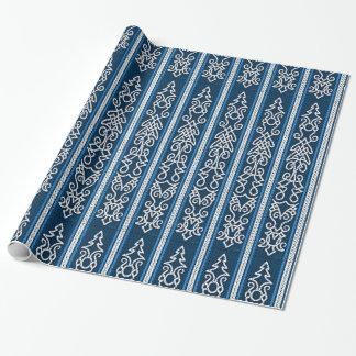 Viking mönsterblått presentpapper