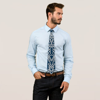 Viking mönsterblått slips