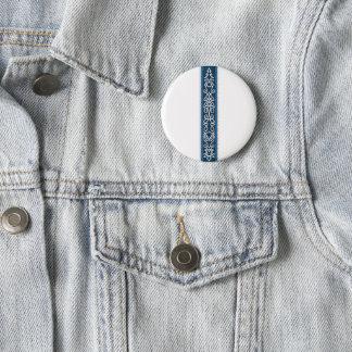 Viking mönsterblått standard knapp rund 5.7 cm
