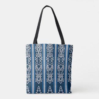 Viking mönsterblått tygkasse