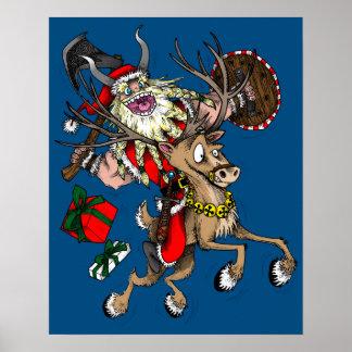 Viking Santa Affischer