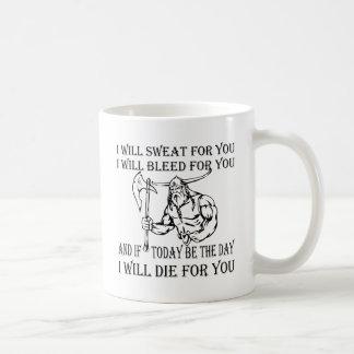 Viking ska jag svett blöder & dör för dig kaffemugg
