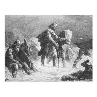 Viking strid av Knud Bergslien Vykort