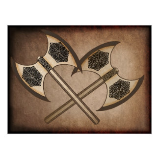 Viking yxa affischer