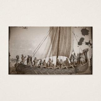 Vikings i en barkass