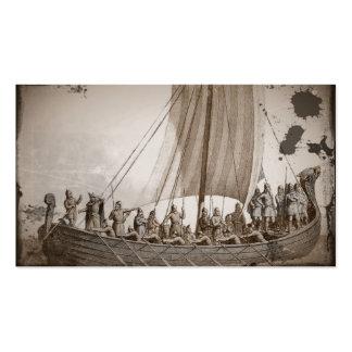 Vikings i en barkass set av standard visitkort