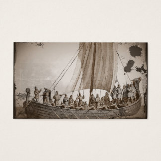 Vikings i en barkass visitkort