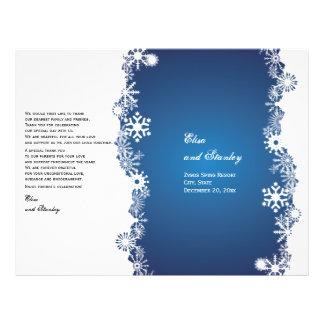 Vikt program för Snowflakeblåttvit bröllop