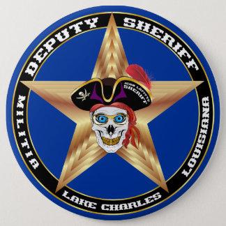 VIKTIGT för sheriff för pirat som Jumbo Knapp Rund 15.2 Cm
