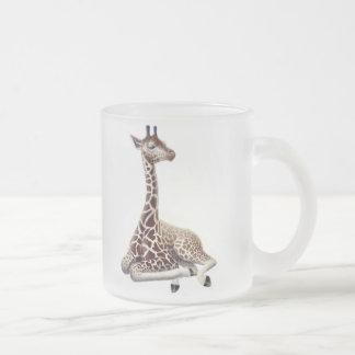 Vila den frostade Glass muggen för giraff Frostad Glas Mugg