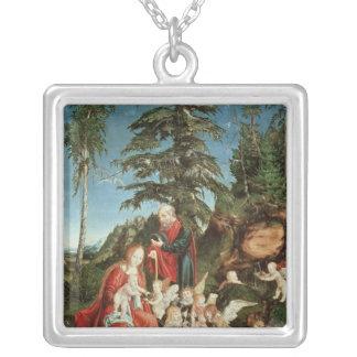 Vila på flyg in i egyptenen, 1504 silverpläterat halsband