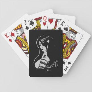 Vild dam spel kort