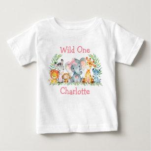 Vild En första födelsedagspresent (Safari Animal T Shirt