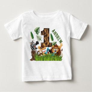 Vild Ett första födelsedagsjungel T Shirt