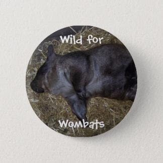 Vild för Wombats Standard Knapp Rund 5.7 Cm