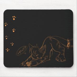 Vild Kaeko gäspning Mousepad Musmatta