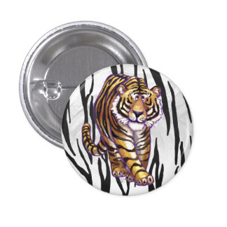 Vild mig svartvitt tryck för tiger mini knapp rund 3.2 cm