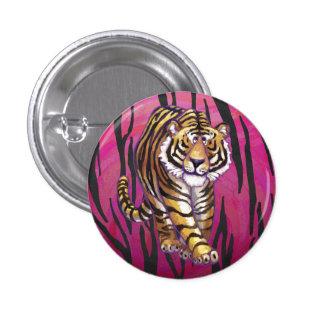 Vild mig tigersvart och rosor mini knapp rund 3.2 cm