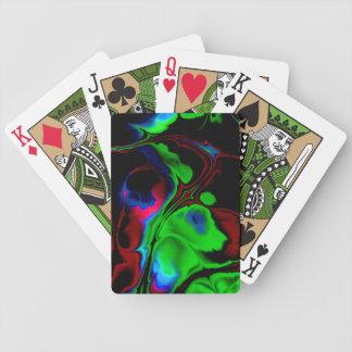 Vild-och-Galen design för Fractalkonst som leker Spelkort
