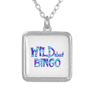 Vild om Bingo Silverpläterat Halsband