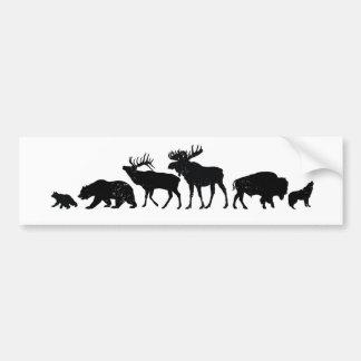 Vilda djur av Yellowstone Bildekal