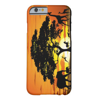 Vilda djur på fodral för SavannahsolnedgångiPhone Barely There iPhone 6 Skal