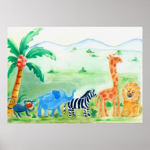Vilda djurSafarikonstverk Affischer