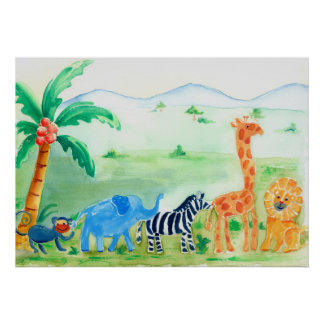Vilda djurSafarikonstverk Poster