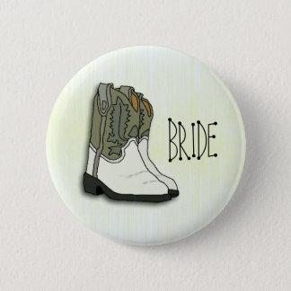 Vilda westernbrudbröllop klämmer fast standard knapp rund 5.7 cm