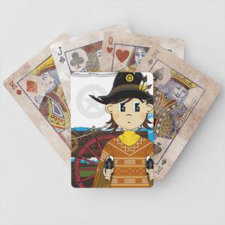 Vilda westernCowboysheriff som leker kort Spelkort